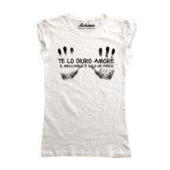 Te lo giuro amore, il meccanico è solo un amico maglia t-shirt donna
