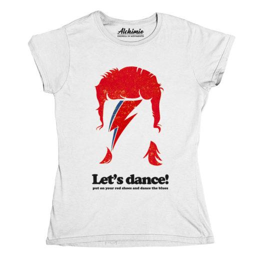 David Bowie maglia maglietta T-Shirt Donna