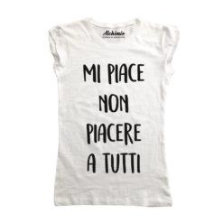 mi piace non piacere a tutti maglia t-shirt donna