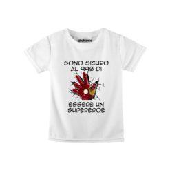 maglia bambino supereroi ironman