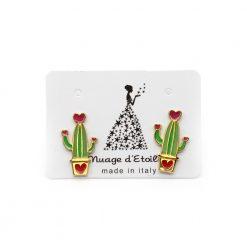 orecchini nuage d'etoiles cactus