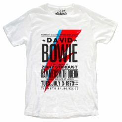 T-SHIRT DAVID BOWIE HAMMERSMITH AT THE ODEON 1973