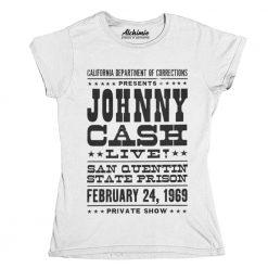 T-Shirt Johnny Cash at San Quentin State Prison 1969 Maglia concerto prigione San Quintino California