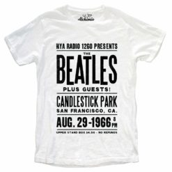 T-SHIRT THE BEATLES AT CANDLESTICK PARK 1966