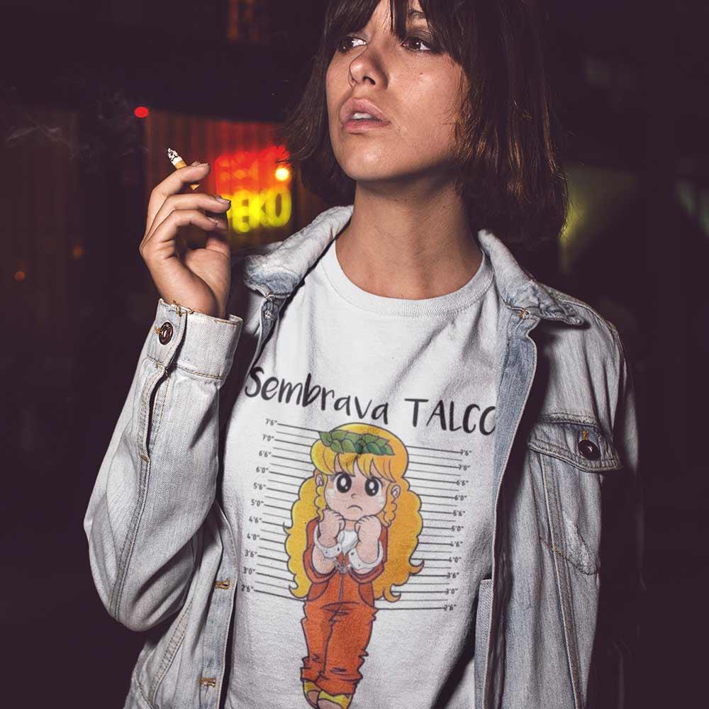 T-Shirt Donna Pollon Sembrava Talco Idea Regalo