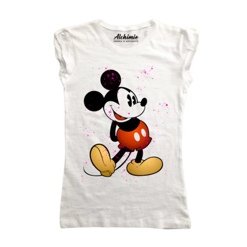 Mickey Mouse Spray Art maglia donna topolino t-shirt