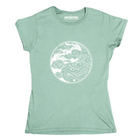 waves onde mare t-shirt donna