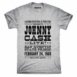 Johnny cash maglia live san quintino saint quentin rock