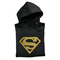 super girl oro glitter supergirl felpa donna