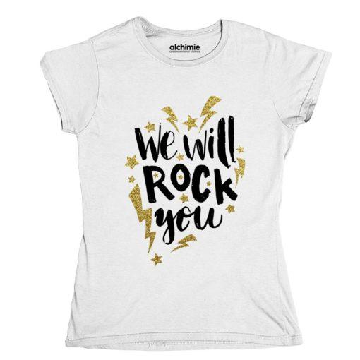 we will rock you queen maglia t-shirt maglietta donna