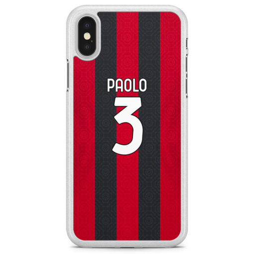 cover personalizzata Milan rossoneri iPhone