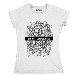 t-shirt I'm not complicated non sono complicata